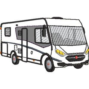 Stickdatei Wohnmobil Camper Vollintegriert mit Applikation