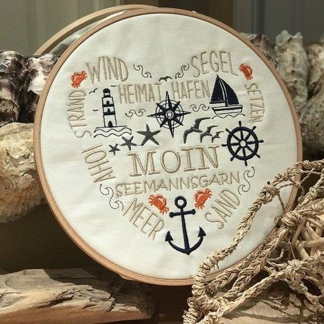 Stickdatei maritimes Herz