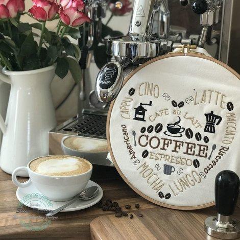 Stickdatei Kaffee Herz Coffee Espresso Cappucino