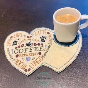 ITH Stickdatei MugRug Kaffee Herz Coffee Espresso Cappucino