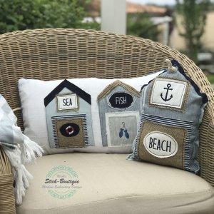 ITH Stickdatei Strandhaus Beachhouse Maritim Applikation