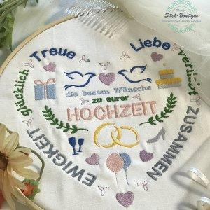 Stickdatei Hochzeits Herz 13x18