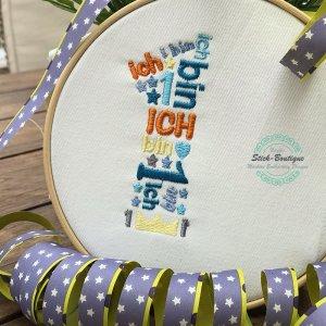 Stickdatei Geburtstags Zahlen Collage