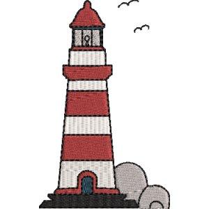 Leuchtturm Stickdatei Vollstick 10x10