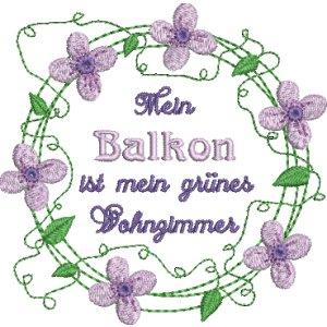 "Blumen & Ranken Rahmen Set Clematis ""Waldrebe"""