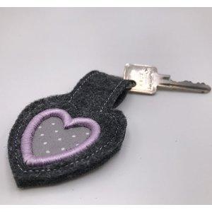 ITH Schlüsselanhänger mit 3D Herz