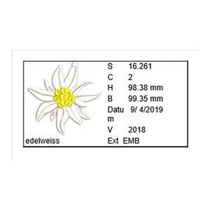 Edelweiss Stickdatei Blumenstickerei Alpen-Edelweiss 10x10