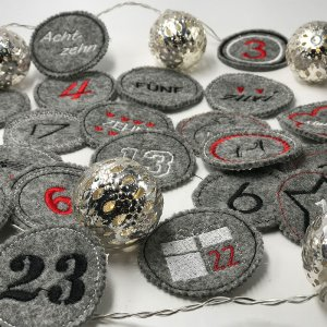 Stickdatei Adventskalender Patches Nummern