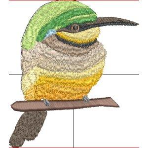 Stickdatei Bienenfresser bunter Vogel Bienenspecht Vollstick