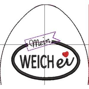 ITH Stickdatei Eierwärmer Weichei / Hartei 10x10