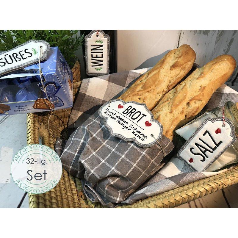 Stickdatei Brot Und Salz Geschenkanhänger Zum Einzug 32 Dateien Set