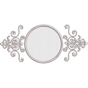 Ornament mit Kreis Applikation in 3 Größen